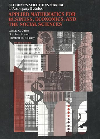 Applied Mathematics for Business, Economics, and the Social Sciences  4th 1993 (Student Manual, Study Guide, etc.) 9780070089044 Front Cover