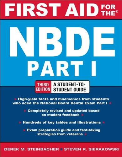 First Aid for the NBDE  3rd 2012 edition cover