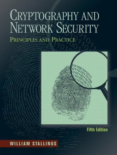 Cryptography and Network Security Principles and Practice 5th 2011 edition cover