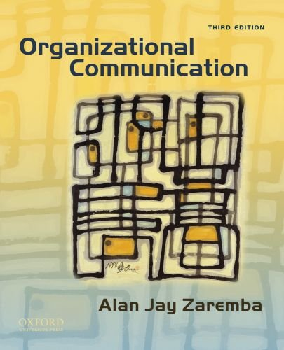 Organizational Communication  3rd 2010 edition cover