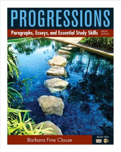 Progressions, Book 2 Paragraphs, Essays, and Essentials Study Skills 9th 2013 (Revised) edition cover