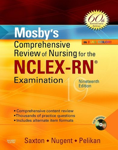 Mosby's Comprehensive Review of Nursing for NCLEX-RN� Examination  19th 2009 edition cover