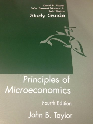 Study Guide Used with ... Taylor-Economics 4th 2004 (Student Manual, Study Guide, etc.) 9780618230044 Front Cover
