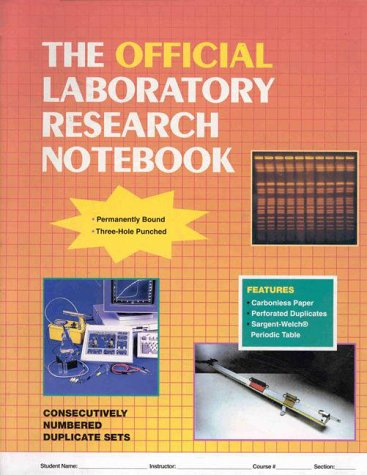Official Laboratory Research Notebook   1999 edition cover