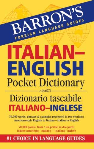 Barron's Italian-English Pocket Bilingual Dictionary   2008 edition cover