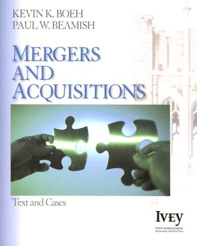 Mergers and Acquisitions Text and Cases  2007 edition cover