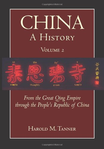 China - A History From the Great Qing Empire to the People's Republic of China, 1644 - 2009  2010 edition cover