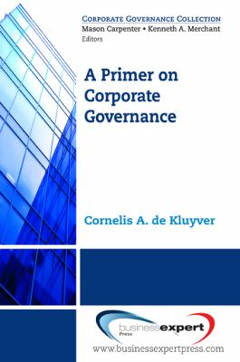 Primer on Corporate Governance   2009 edition cover