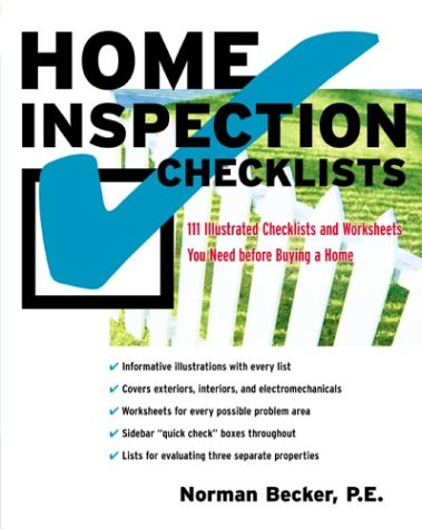 Home Inspection Checklists 111 Illustrated Checklists and Worksheets You Need Before Buying a Home  2004 9780071423045 Front Cover