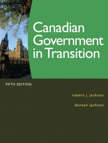 Canadian Government in Transition  5th 2010 edition cover