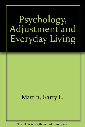 Psychology, Adjustment and Everyday Living 2nd 9780137358045 Front Cover