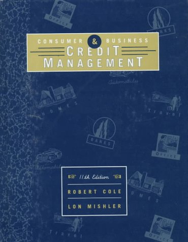 Consumer and Credit Management  11th 1998 edition cover