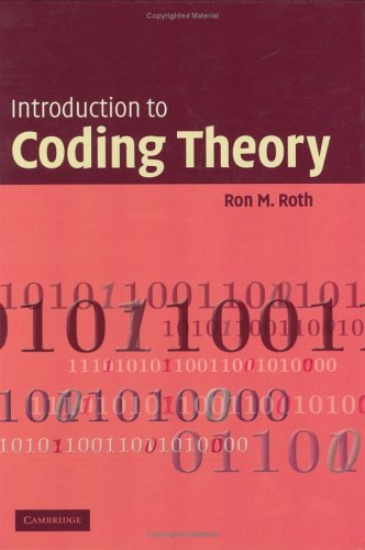 Introduction to Coding Theory   2005 9780521845045 Front Cover