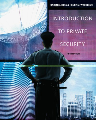 Introduction to Private Security  5th 2009 edition cover