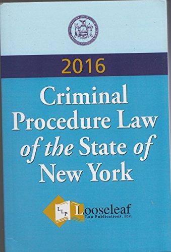 Criminal Procedure Law, N. Y. S.   2015 edition cover