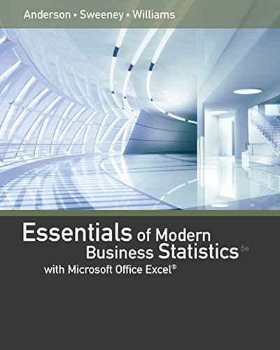 Essentials of Modern Business Statistics With Microsoft Excel: 6th 2015 9781285867045 Front Cover