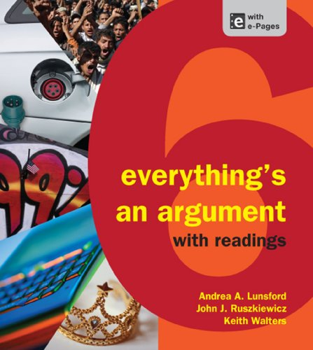 Everything's an Argument With Readings:   2012 9781457606045 Front Cover
