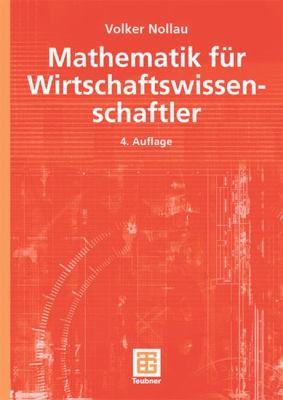 Mathematik F�r Wirtschaftswissenschaftler  4th 2003 edition cover