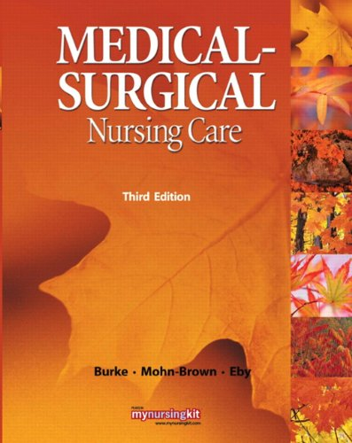 Medical Surgical Nursing Care  3rd 2011 edition cover