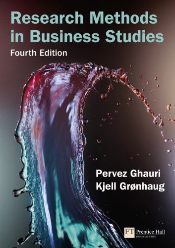 Research Methods in Business Studies  4th 2010 edition cover