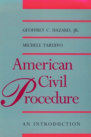American Civil Procedure An Introduction N/A 9780300065046 Front Cover