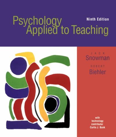 Psychology Applied to Teaching 9th 2000 9780618096046 Front Cover