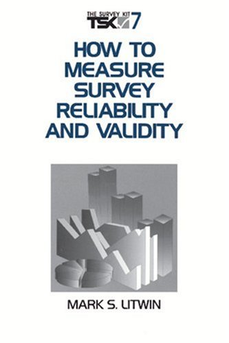 How to Measure Survey Reliability and Validity   1995 edition cover