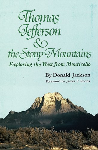 Thomas Jefferson and the Rocky Mountains Exploring the West from Monticello  1993 (Reprint) edition cover