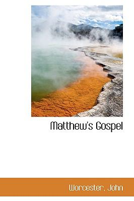 Matthew's Gospel N/A 9781113446046 Front Cover