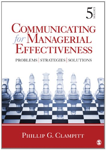 Communicating for Managerial Effectiveness Problems - Strategies - Solutions 5th 2013 edition cover