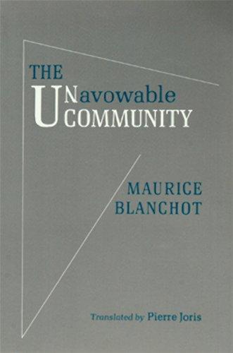 Unavowable Community   2009 edition cover