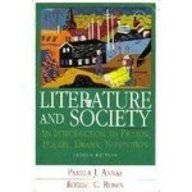 Literature and Society An Introduction of Fiction, Poetry, Drama, Nonfiction 2nd 1994 edition cover