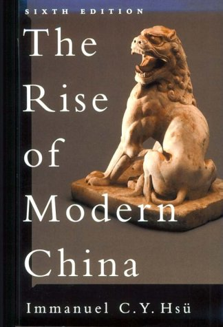 Rise of Modern China  6th 2000 (Revised) edition cover