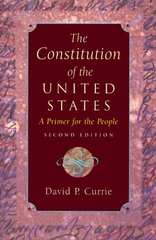 Constitution of the United States A Primer for the People 2nd 2000 (Reprint) edition cover