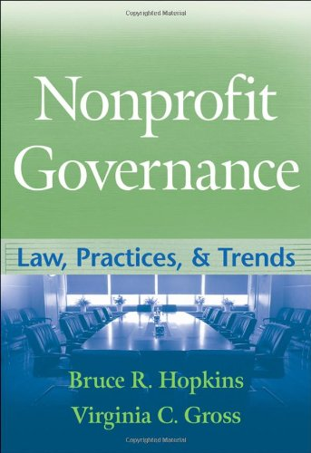 Nonprofit Governance Law, Practices, and Trends  2009 edition cover