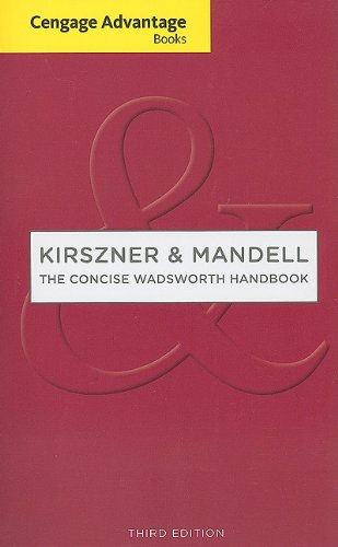 Concise Wadsworth Handbook, Untabbed Version  3rd 2011 edition cover