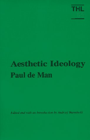 Aesthetic Ideology   1997 edition cover
