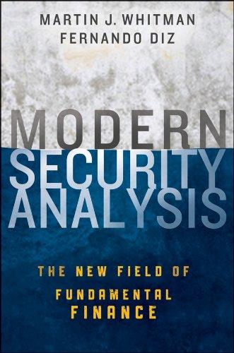 Modern Security Analysis Understanding Wall Street Fundamentals  2013 edition cover