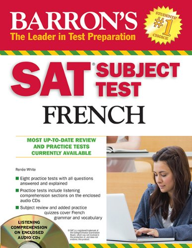 Barron's SAT Subject Test French with Audio CDs, 3rd Edition  3rd 2013 (Revised) edition cover