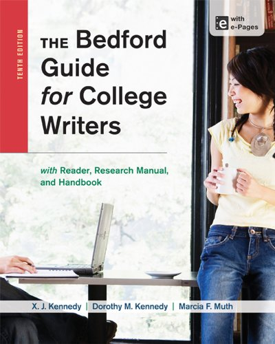 Bedford Guide for College Writers with Reader, Research Manual, and Handbook  10th 2014 edition cover