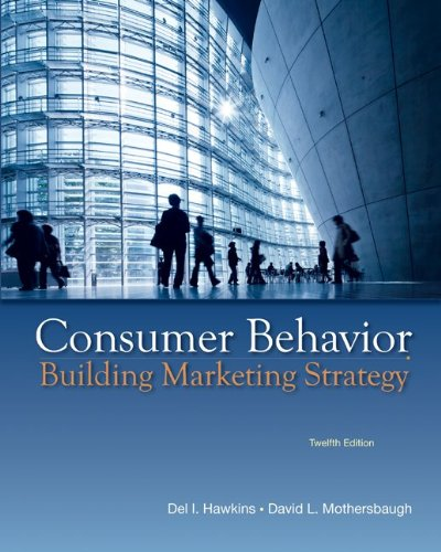 Consumer Behavior Building Marketing Strategy 12th 2013 edition cover