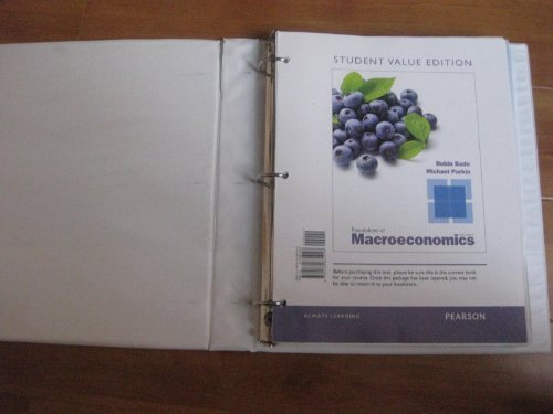 Foundations of Macroeconomics, Student Value Edition  6th 2013 edition cover