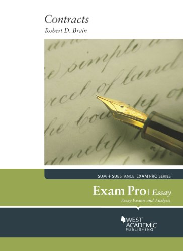 Brain's Exam Pro on Contracts, Essay:   2014 edition cover