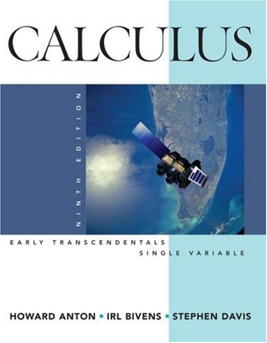 Calculus Early Transcendentals Single Variable 9th 2009 edition cover