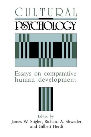 Cultural Psychology Essays on Comparative Human Development  1990 edition cover