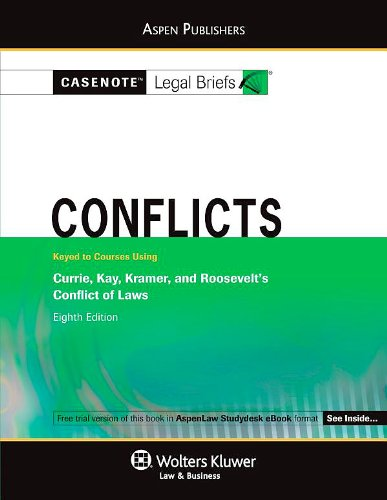 Conflicts Currie Kay Kramer and Roosevelt 8th (Student Manual, Study Guide, etc.) edition cover