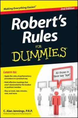 Robert's Rules for Dummies  2nd 2012 edition cover