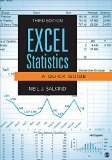 Excel Statistics A Quick Guide 3rd 2016 edition cover