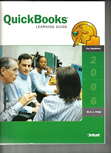 QuickBooks Learning Guide 2006 1st 2006 9781573381048 Front Cover