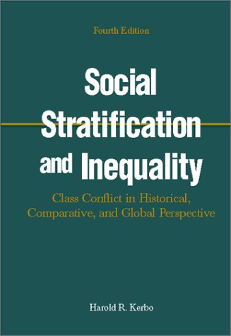 Social Stratification and Inequality  4th 2000 9780072316049 Front Cover